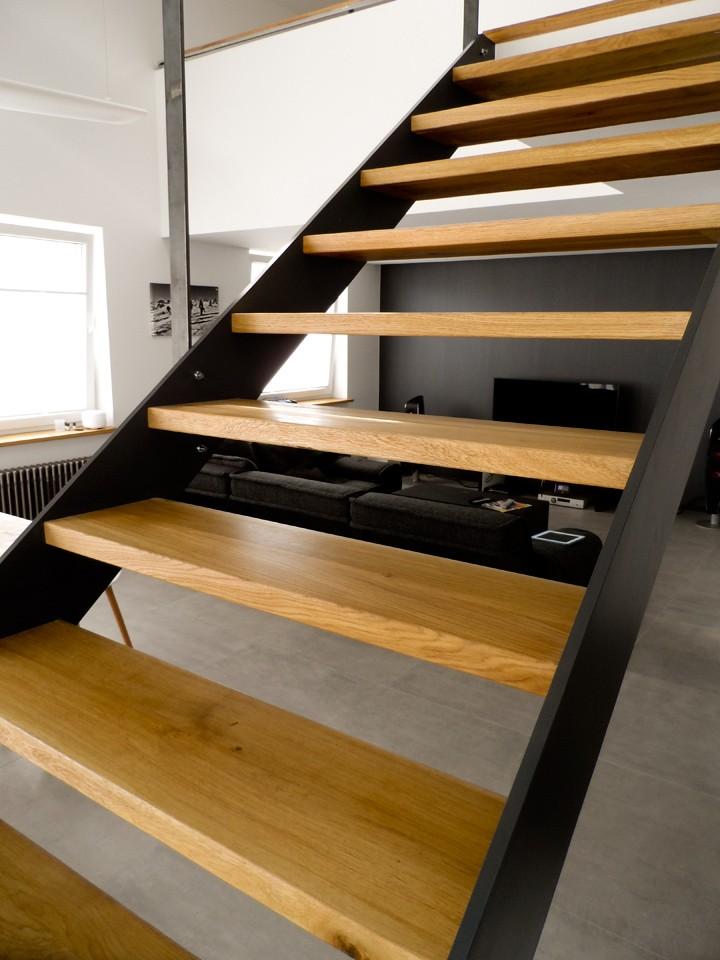 Schody Debowe Loft Poznan Konstrukcja Stalowa
